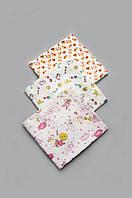 Комплект байковых пеленок для девочки 3 шт