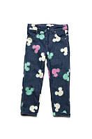 """Стильные детские джинсы для девочки """"Микки"""""""