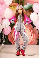 Детский трикотажный спортивный костюм для девочки от производителя
