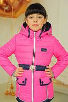 Детская удлиненная куртка на холофайбере для девочки | Весна 2016