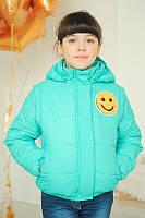 Детская демисезонная куртка-жилетка для девочки из плащевки