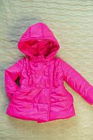 Детская куртка для девочки из плащевки на весну