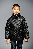 Детская демисезонная стеганая куртка для мальчика без капюшона