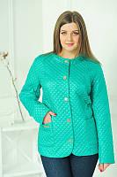 Женская короткая стеганая куртка без капюшона на весну-осень
