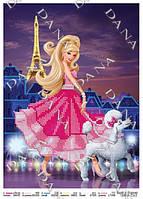 """Схема для вышивания бисером """"Барби в Париже"""" 2163"""