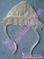 Кружевная шапочка нарядная Рюшка, разные цвета