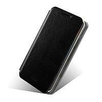 Кожаный чехол книжка Mofi для Lenovo A529 чёрный
