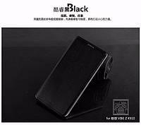 Кожаный чехол книжка Mofi для Lenovo K910 Vibe Z чёрный