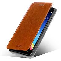 Кожаный чехол книжка Mofi для Lenovo Vibe X2 коричневый
