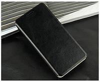 Кожаный чехол книжка Mofi для Lenovo A606 чёрный
