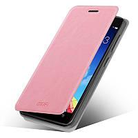 Кожаный чехол книжка Mofi для Lenovo Vibe X2 розовый