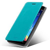 Кожаный чехол книжка Mofi для Lenovo Vibe X2 голубой