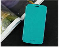 Кожаный чехол книжка Mofi для Huawei Honor 3C Lite голубой