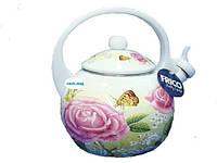 Чайник эмалированный со свистком FRICO FRU-796, 2,5 л.