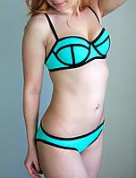 Купальник женский Triangle неопрен голубой, купальники фото