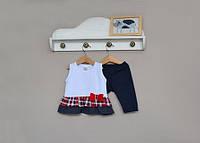 Детский комплект на лето туника и лосины для девочки