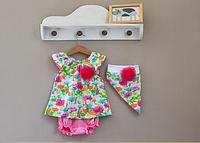 Детский комплект для девочки с косынкой