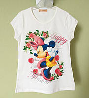 Детская футболка, туника на девочку с Мини Маус