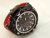 Часы мужские G-Shock - MT - G, стальной безель, стальной бокс, красный браслет