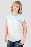 Блуза из вискозы прямого кроя