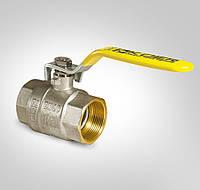 Кран латунный шаровый для газа 1 дюйм KOER KR.214.G (гайка/гайка/ручка)