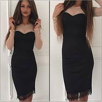 Очаровательное платье из сетки и дайвинга
