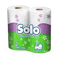 Кухонные полотенца Solo белые 2 шт