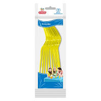 Вилки пластиковые Eventa PS желтые 10 шт