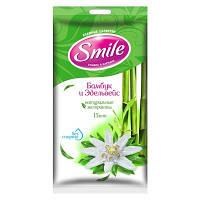 Влажные салфетки Smile Бамбук и эдельвейс с натуральными экстрактами 15 шт