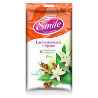 Влажные салфетки Smile Цветы апельсина и Аргана с натуральными экстрактами 15 шт