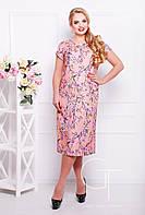 Романтичное льняное платье Большие размеры