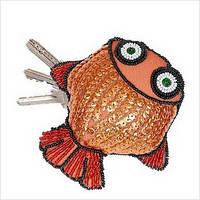 """Набор для вышивки пайетками и бисером """"Ключница """"Рыбка"""""""
