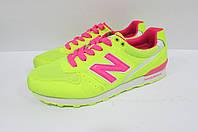 Кроссовки женские ярко желтые с розовым New Balance 7089-2 код 163А