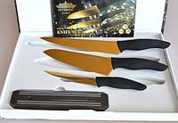 Набор стальных ножей  Peterhof 22334(20.3 см,16.9 см, 12,2 см)+магнитная  планка