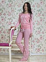 Женская пижама (кофта с длинным рукавом+штаны)