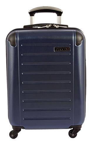 Пластиковый малый 4-колесный чемодан 34 л. PUCCINI PC016 8850/4 синий