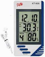 Термометр гигрометр цифровой КТ 908 с выносным датчиком