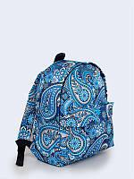 3D рюкзак Пейсли голубой с модным рисунком.