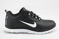 Кроссовки детские/подростковые Nike Free Run 3.0 черные (р-р 31-36)