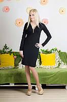 Платье удлиненное черное, фото 1