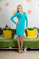 Платье удлиненное мята, фото 1