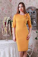 Роскошное нарядное платье с цветком на плече и брошью р.46-48-50  Y212.3