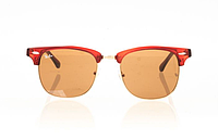 Очки Ray Ban Clubmaster Red-Gold-Brown 8177
