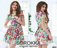 Платье женское с цветочным принтом, фото 1