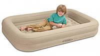 Детская односпальная надувная кровать INTEX 66810 (107-168-25 СМ.) + ручной насос INTEX 68612