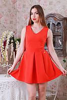 Платье мини в складку р.46-48  Y211.4