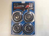 Колеса для роликовых коньков полиуретановые прозрачные 72 х 24 мм - 4 шт. без подшипников