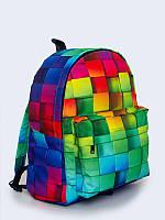 Классный рюкзак Цветные кубики с потрясающим 3D-рисунком.