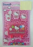 """Свічки для торта """"HB Hello Kitty"""""""