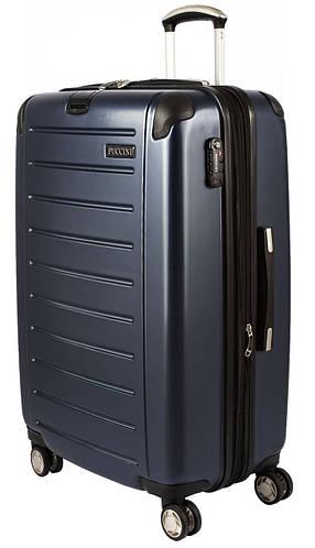 4-колесный пластиковый большой чемодан 98/127 л. PUCCINI PC016 8854/4 синий